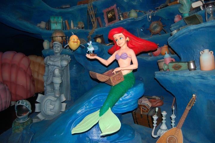 Malá mořská víla v Disney Worldu