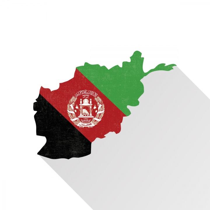 Mapa a vlajka Afghánistánu