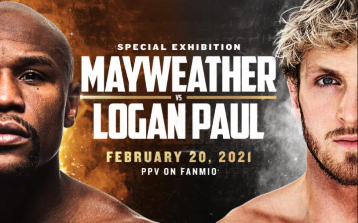 Oficiální plakát k boxerskému souboji Mayweather vs Paul