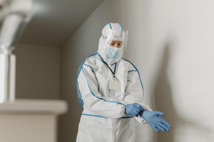 Lékařka v nemocnici.