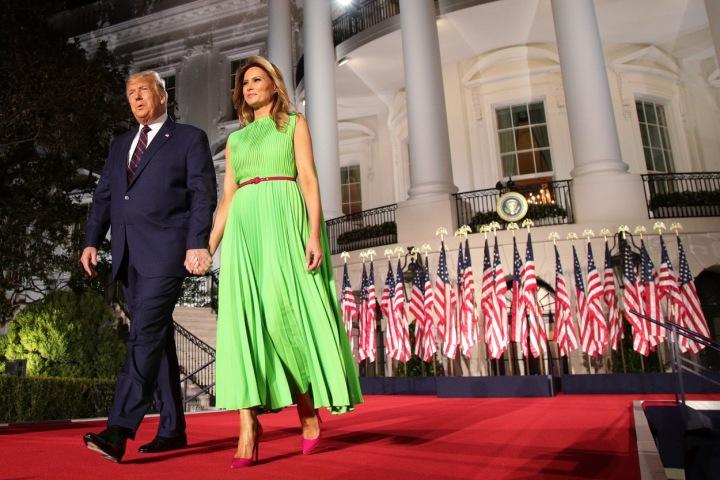 Melania Trump v šatech Valentino