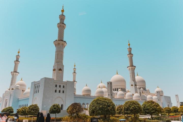 Mešita v Abu Dhabi.