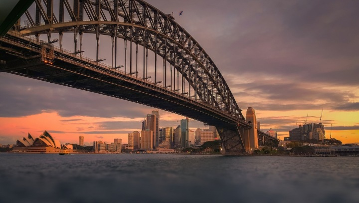 Město Sydney.