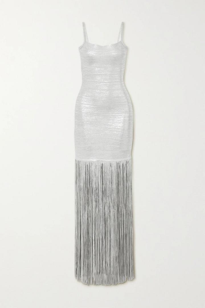 Metalické šaty Hervé Léger