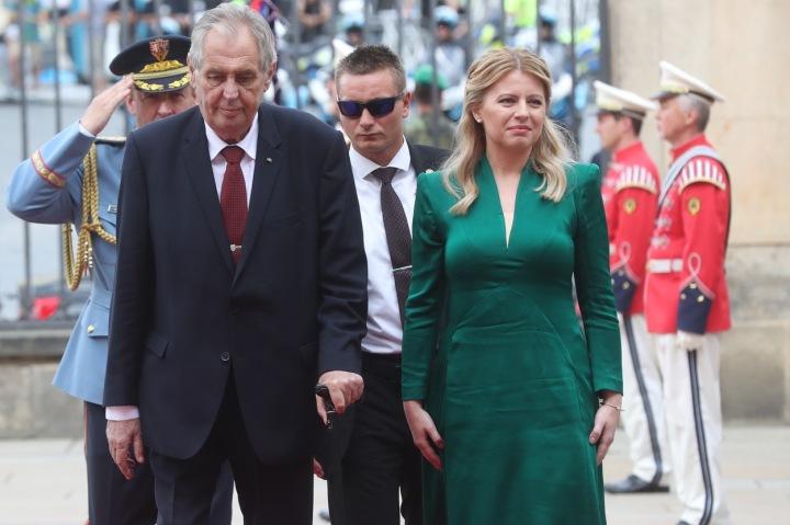 Zuzana Čaputová navštívila českého prezidenta Miloše Zemana