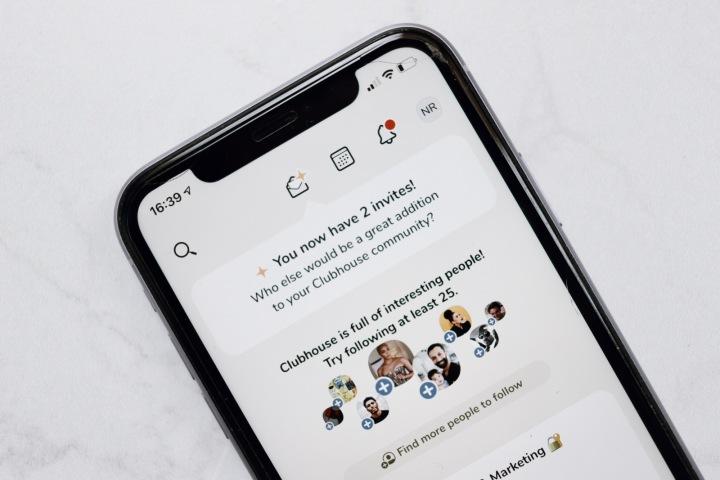 Mobilní aplikace Clubhouse