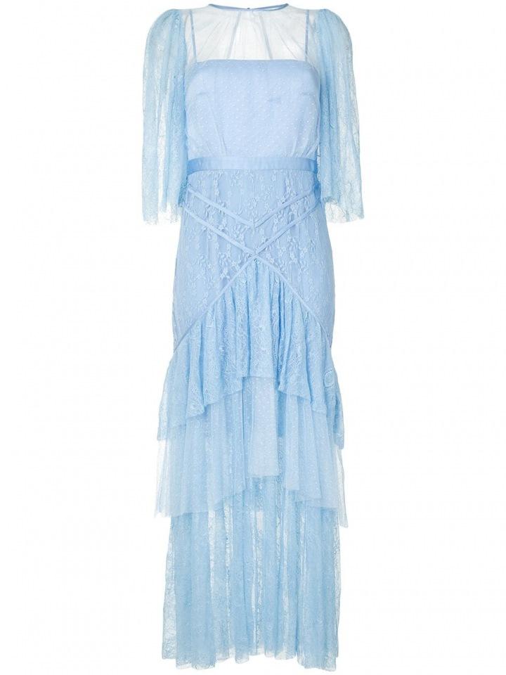Modré šaty s volány Alice McCall