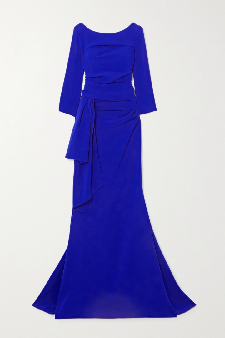 Modré šaty Talbot Runhof