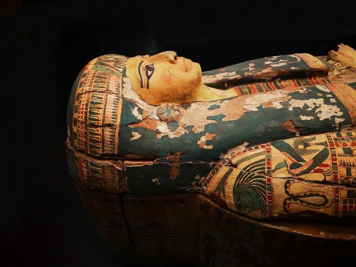 Mumie v egyptském muzeu