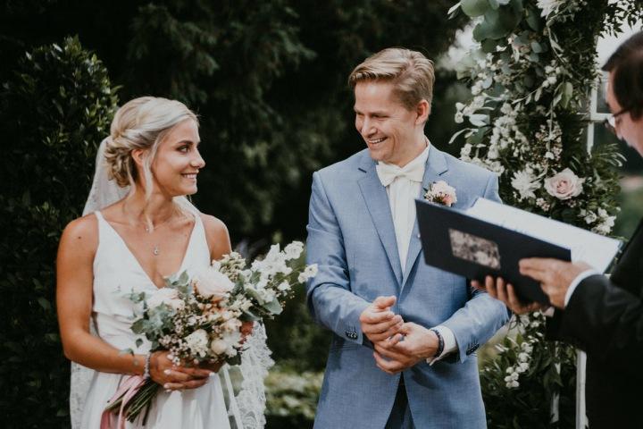 Natália a František při obřadu.