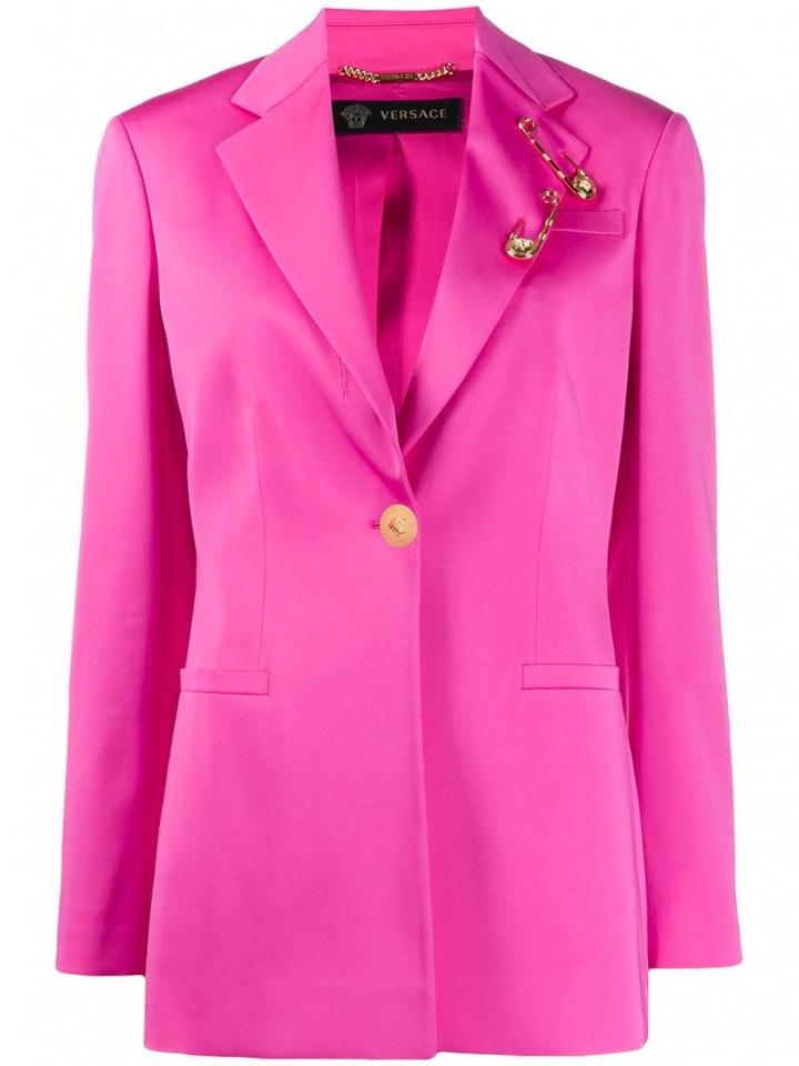 Neonově růžové sako Versace
