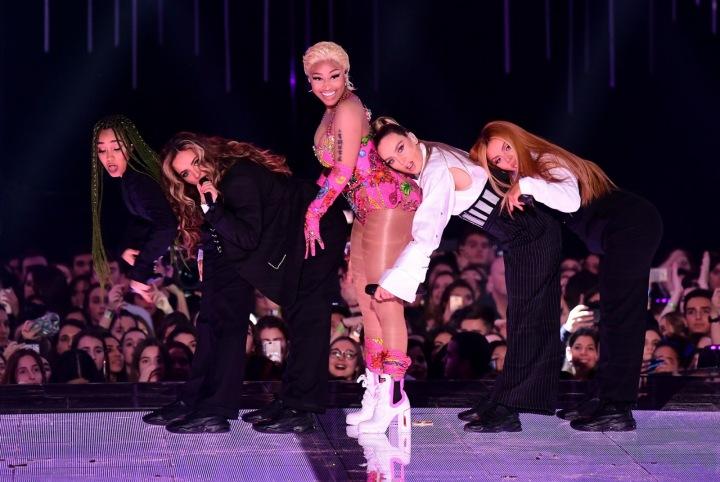 Nicki Minaj při vystoupení.