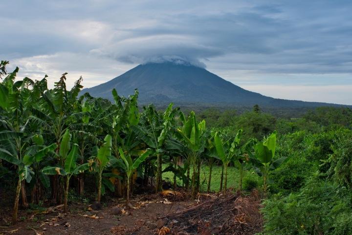 Sopka v Nikaraguy