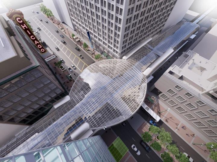 Nová vlaková stanice v Chicagu