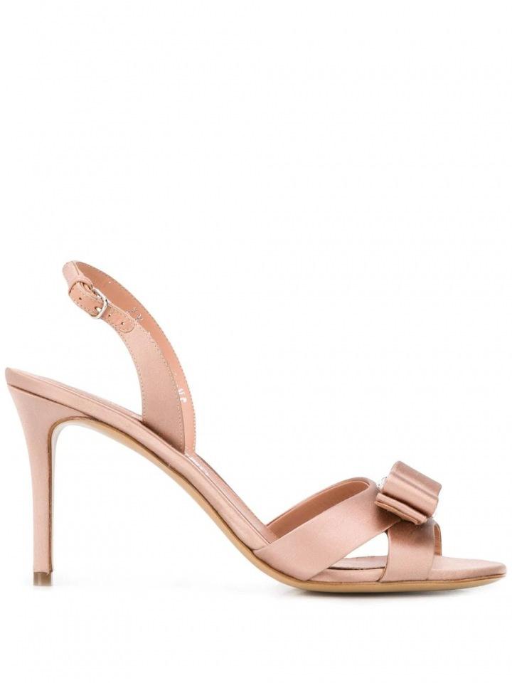 Nude sandálky Salvatore Ferragamo