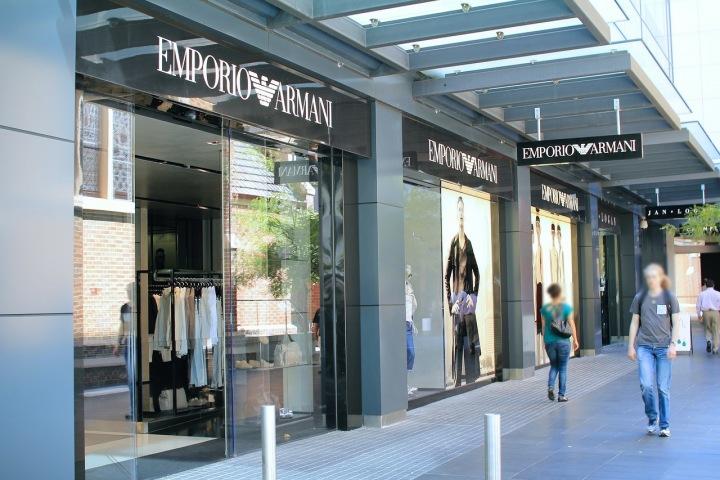 Obchod Armani v Austrálii