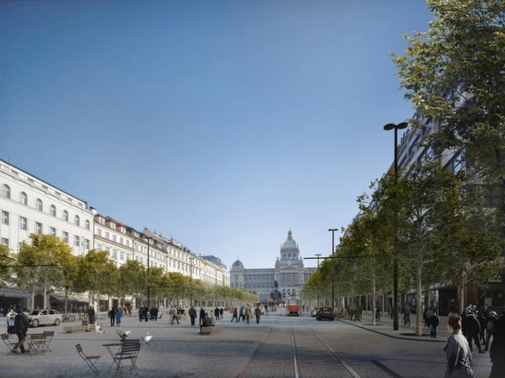 Design of the transformation of Wenceslas Square.