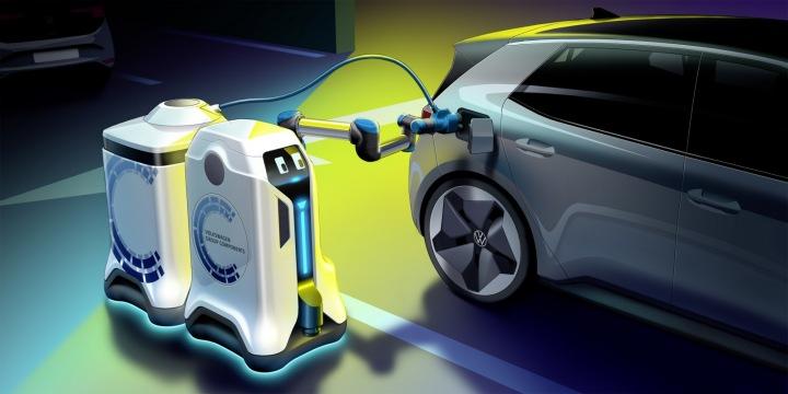 O nabití vašeho elektromobilu by se v budoucno mohl postarat robot.