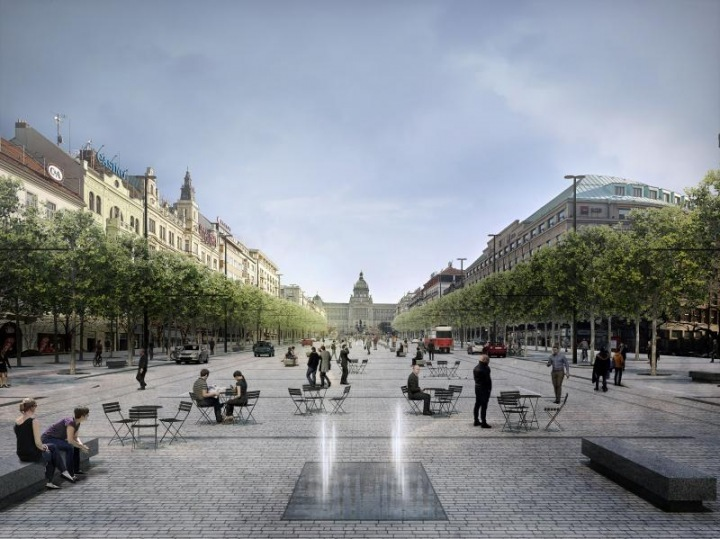 Prague residents will also be able to enjoy the pedestrian promenade in the middle of the square.