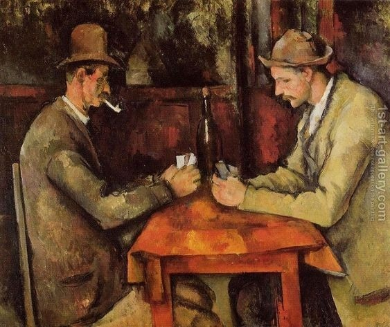 Card Players by French painter Paul Cézanne