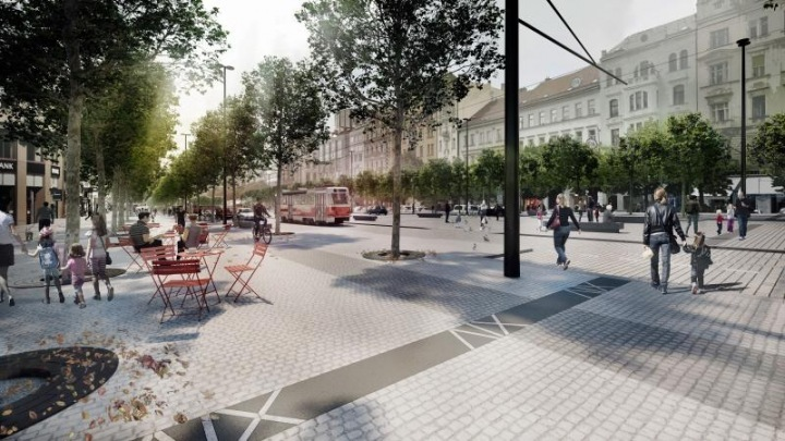 Visualization of Wenceslas Square reconstruction