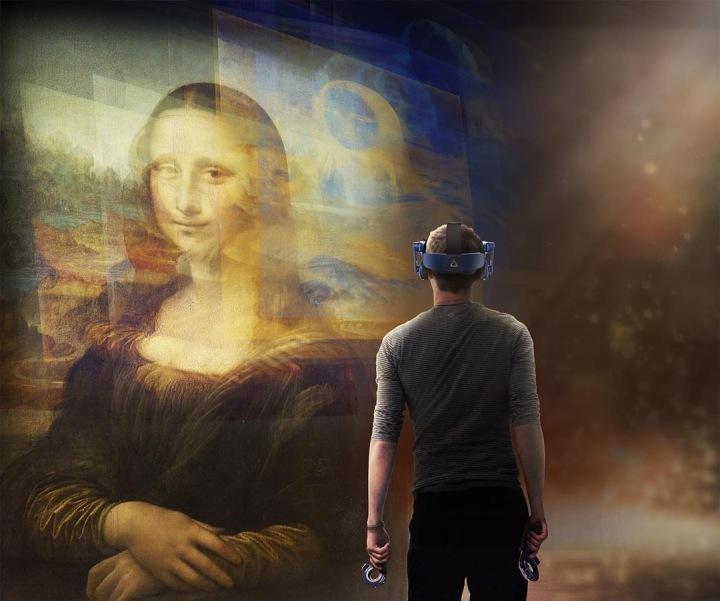 Poslední část výstavy umožňuje návštěvníkům vstoupit do virtualní reality.