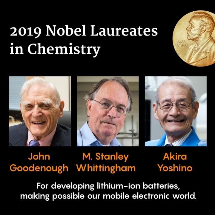 Letošní nositelé Nobelovy ceny za chemii
