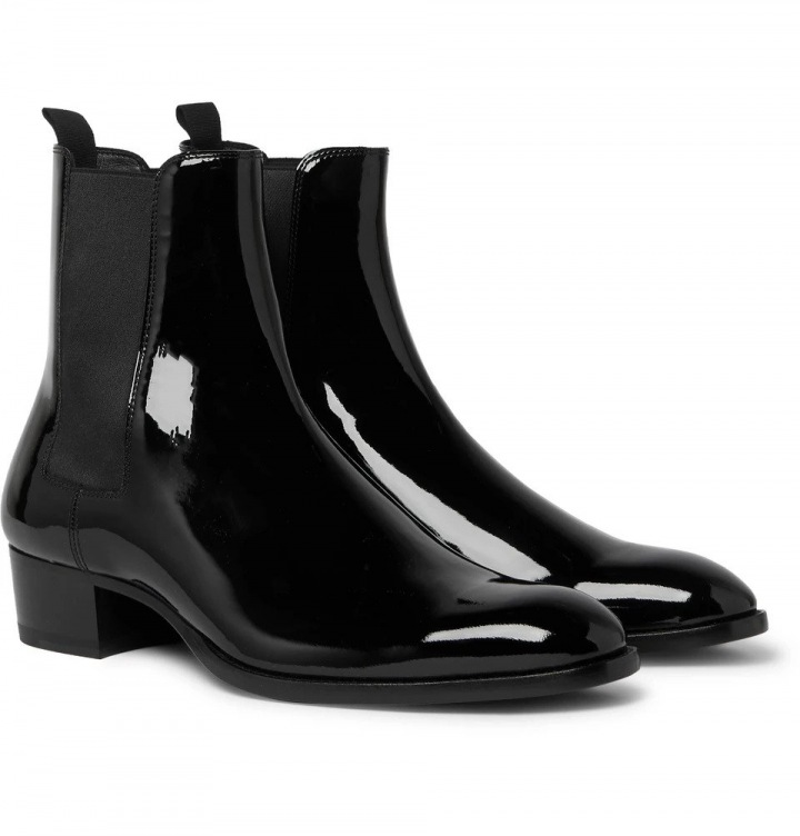 Černé boty Saint Laurent