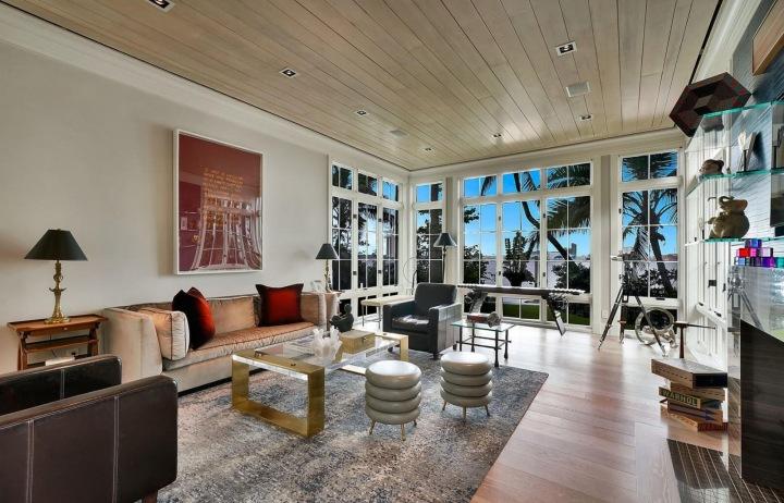 Obývací pokoj v Palm Beach, Sylvester Stallone