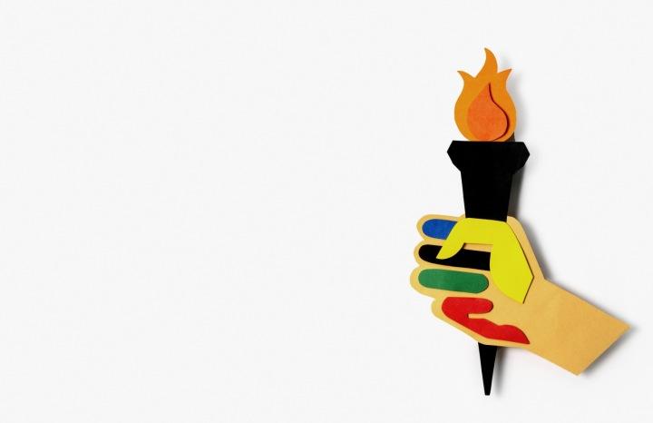 Ilustrace olympijské pochodně