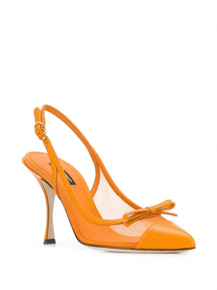 Oranžové lodičky Dolce a Gabbana