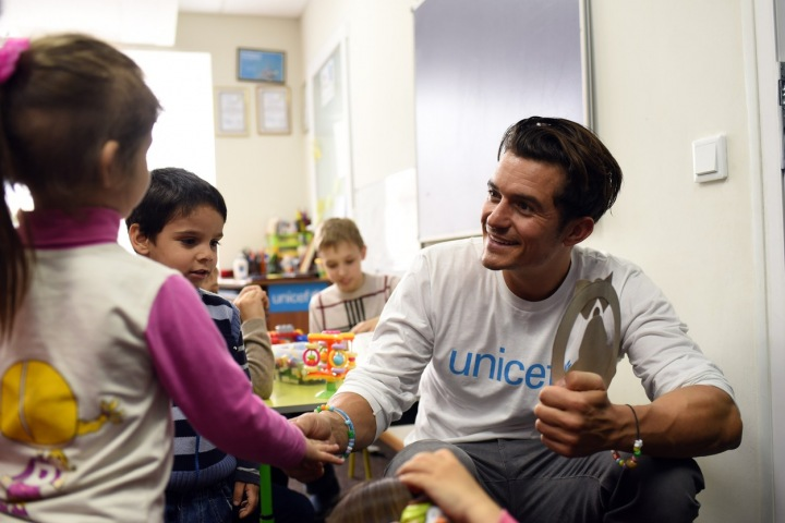 Vyslanec dobré vůle organizace UNICEF, Orlando Bloom