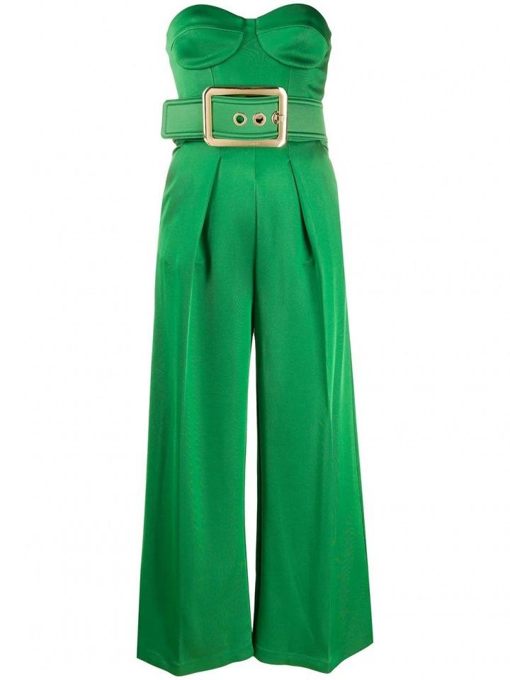 Zelený overal Elisabetta Franchi