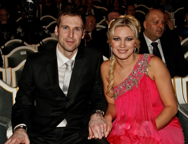Petr Čech s manželkou Martinou