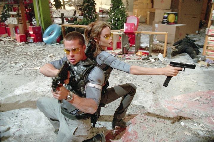Pitt a Jolie ve filmu.