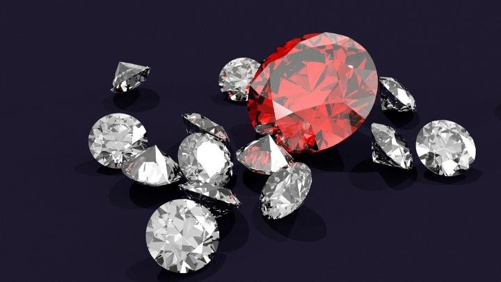 Položené diamanty.