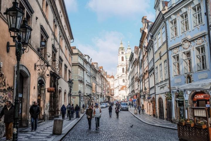 Ulice v centru Prahy