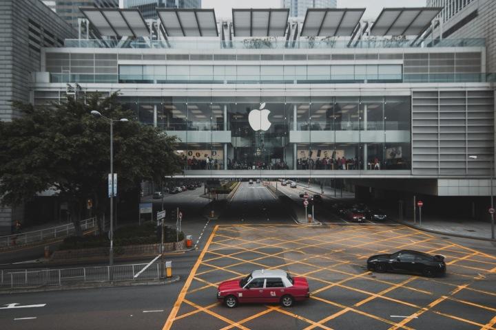 Prodejna společnosti Apple v Hong Kongu