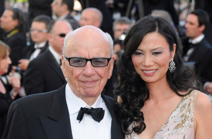 Mediální magnát Rupert Murdoch s exmanželkou Wendi Deng
