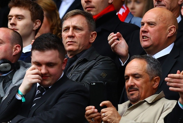 Daniel Craig je nadšeným fanouškem Liverpoolu