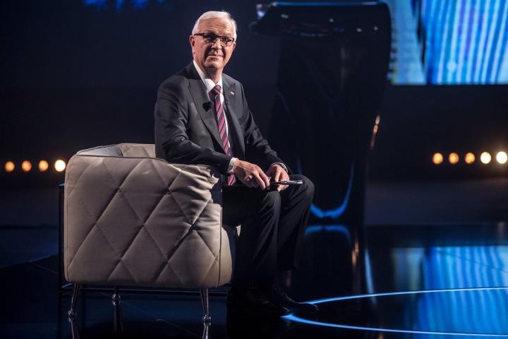 Jiří Drahoš při prezidentské debatě v roce 2018