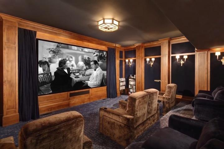 V novém domě celebrity nechybí ani soukromé kino