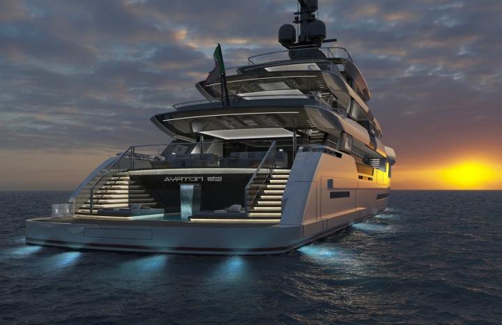 Nová luxusní jachta ISA Ayrton inspirovaná vozy Formule 1