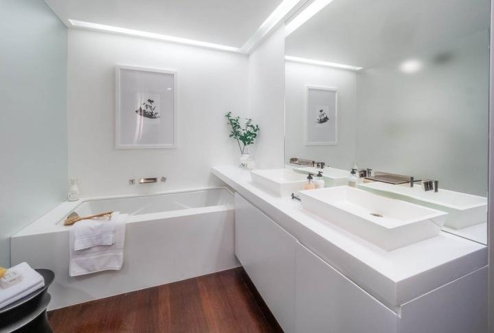 Koupelna je velmi jednoduchá