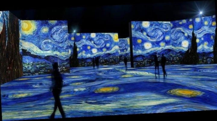 Projekce obrazu Van Gogha.