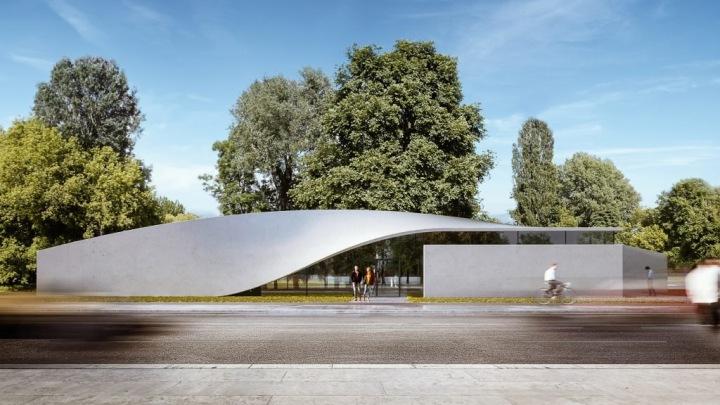 Vizualizace budovy The Cube v univerzitním kampusu v Drážďanech