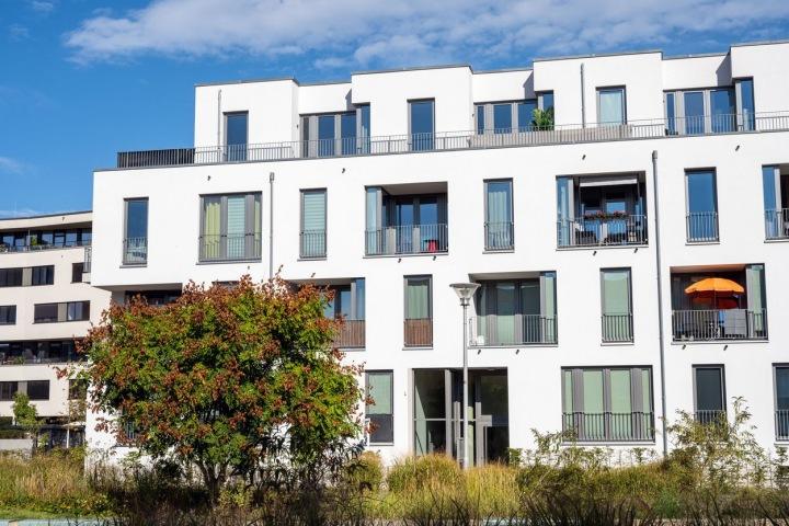 Ukázka moderního řadového domu v Německu