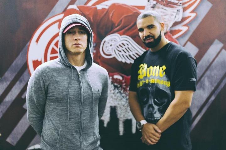 Rapper Eminem se zpěvákem Drakem