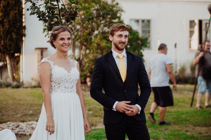 Petra a René při obřadu.