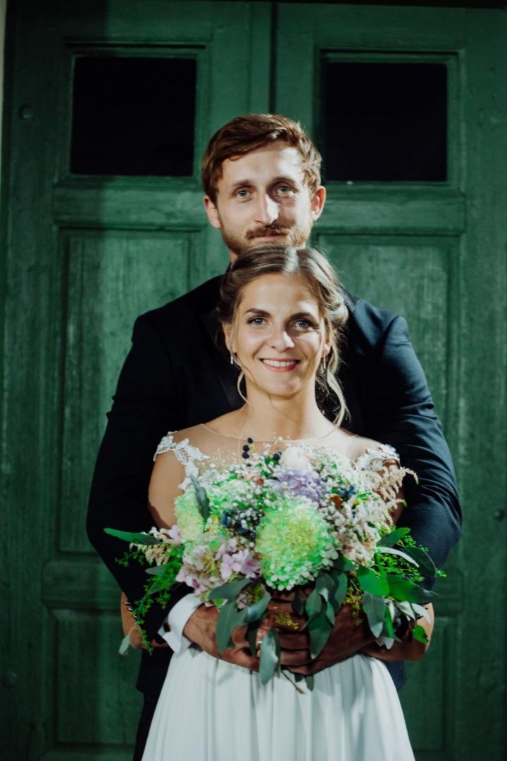 Petra a René na svatbě.